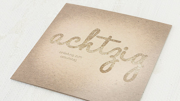 Geburtstagseinladungen - Goldener Tag 80