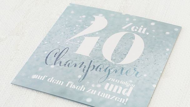Geburtstagseinladungen - Champagner