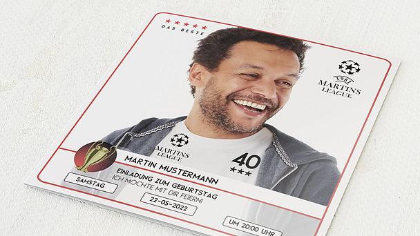 Geburtstagseinladungen - Champion 40