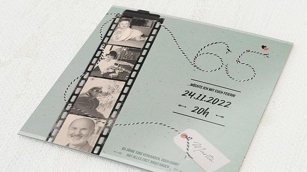 Geburtstagseinladungen - Filmstreifen 65