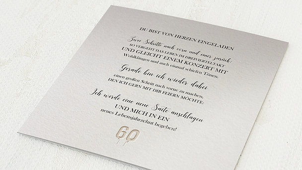 Geburtstagseinladungen - Taktvoll 60