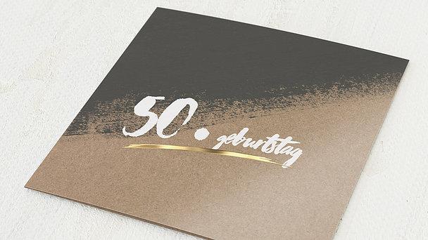 Geburtstagseinladungen - Kontraste Geburtstag 50
