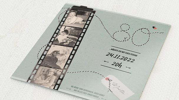 Geburtstagseinladungen - Filmstreifen 80