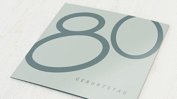 Geburtstagseinladungen - Famose 80