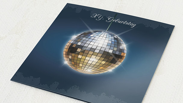 Geburtstagseinladungen - Discokugel