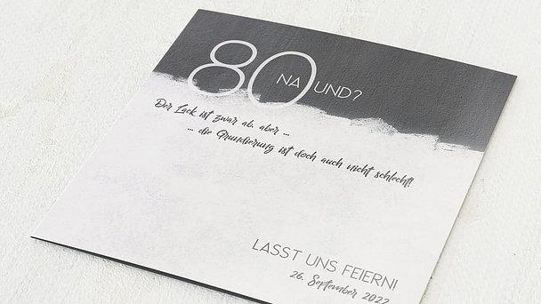 Geburtstagseinladungen - Neuer Anstrich 80