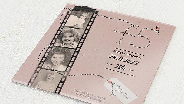 Geburtstagseinladungen - Filmstreifen 75