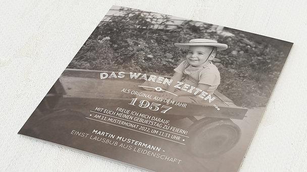 Geburtstagseinladungen - Alte Zeiten 65