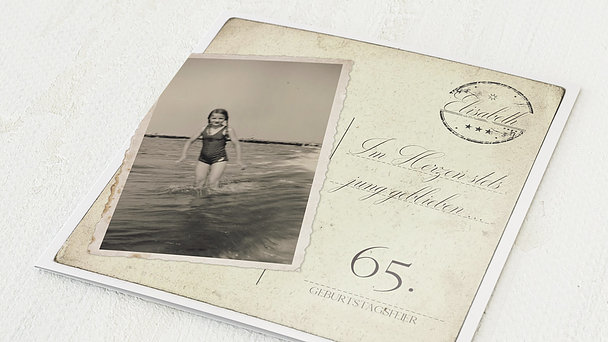 Geburtstagseinladungen - Jung geblieben 65