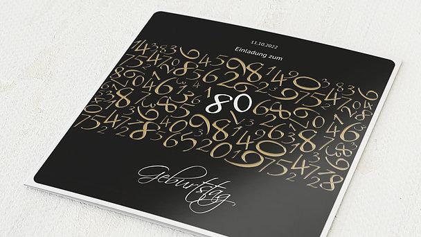 Geburtstagseinladungen - Chaos 80