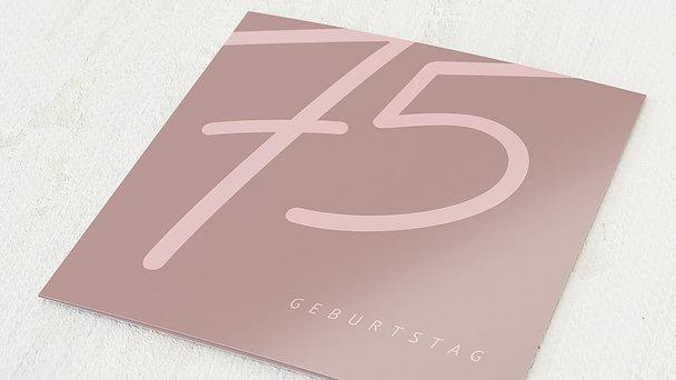 Geburtstagseinladungen - Famose 75
