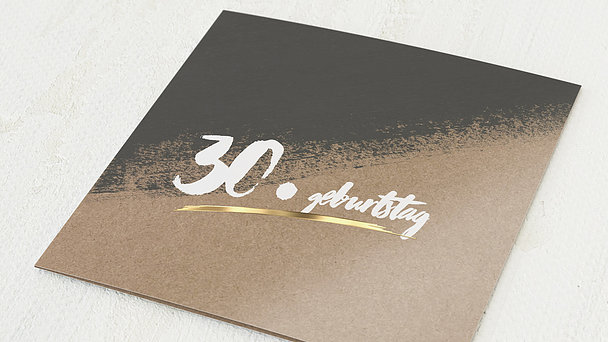 Geburtstagseinladungen - Kontraste Geburtstag 30