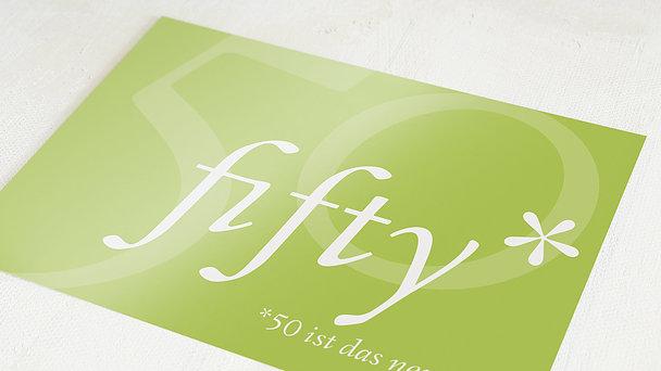 Geburtstagseinladungen - Fifty Fifty Foto