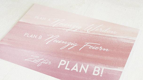 Geburtstagseinladungen - Plan B 90