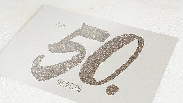 Geburtstagseinladungen - Goldene Nummer 50