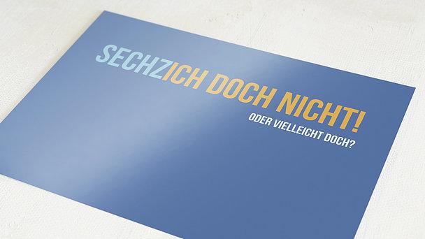 Geburtstagseinladungen - Sechzich