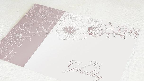Geburtstagseinladungen - Harmonie der Blüten 90