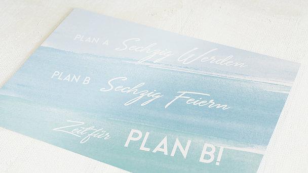 Geburtstagseinladungen - Plan B 60