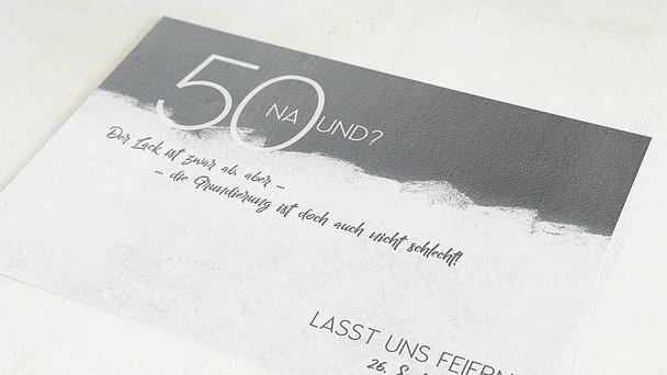 Geburtstagseinladungen - Neuer Anstrich 50