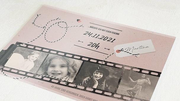 Geburtstagseinladungen - Filmstreifen 40