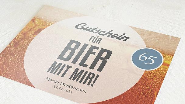 Geburtstagseinladungen - Gutschein Bier 65