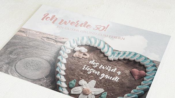 Geburtstagseinladungen - Gaudi 50