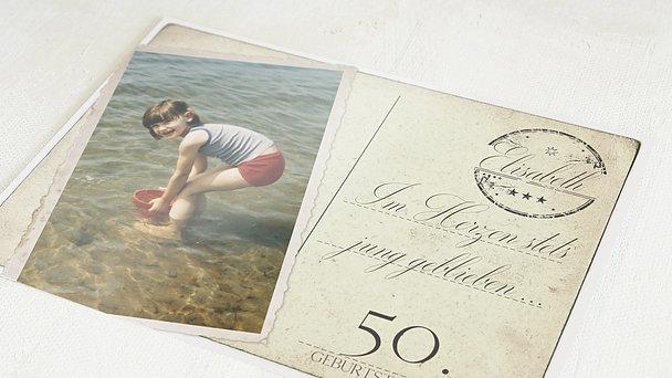 Geburtstagseinladungen - Jung geblieben 50