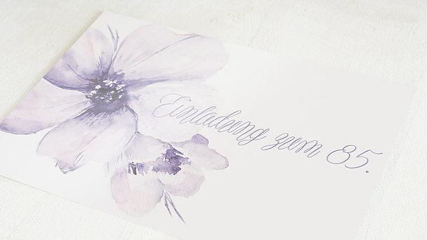 Geburtstagseinladungen - Blütenpracht 85