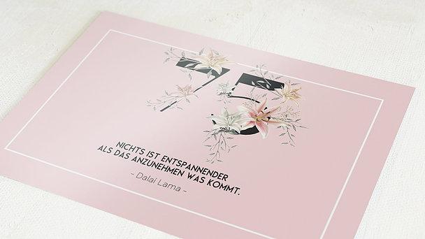 Geburtstagseinladungen - Floras Garten 75