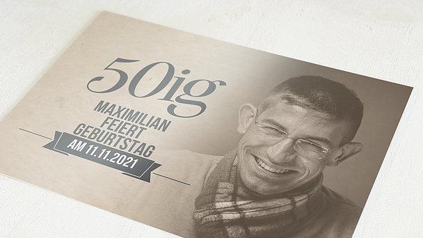 Geburtstagseinladungen - Retrofeier 50