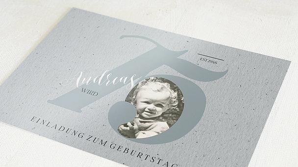 Geburtstagseinladungen - My time 75