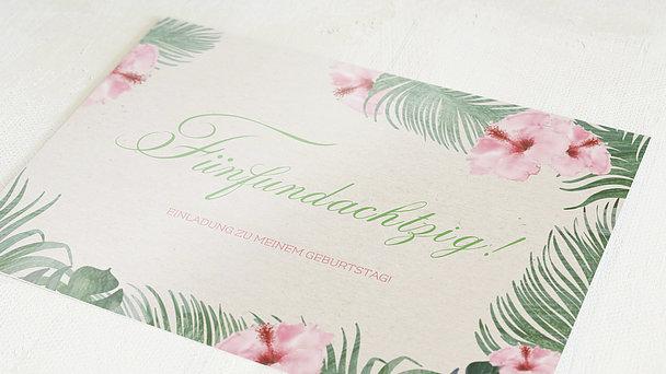 Geburtstagseinladungen - Hibiskusblüte 85
