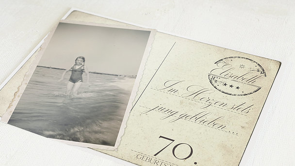 Geburtstagseinladungen - Jung geblieben 70