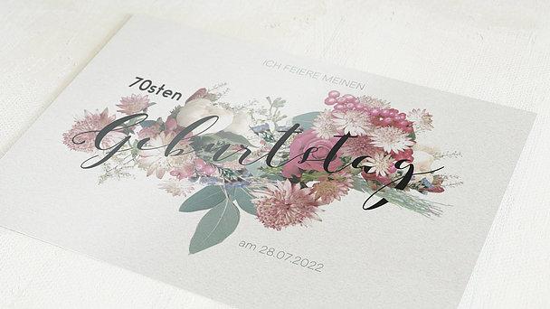 Geburtstagseinladungen - Blütenwalzer 70