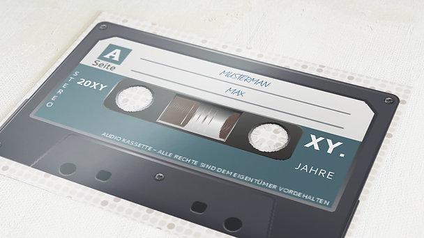 Geburtstagseinladungen - Kassette