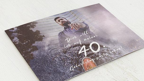 Geburtstagseinladungen - Wanted 40