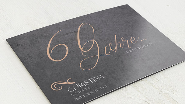 Geburtstagseinladungen - Lebenstraum 60