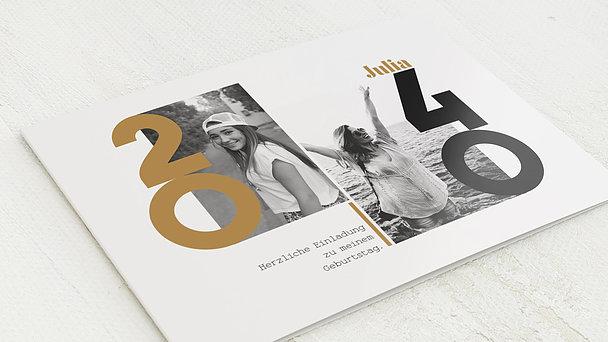 Geburtstagseinladungen - Mein Jahr 40
