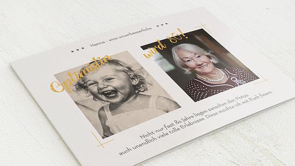 Geburtstagseinladungen - Optimist 80