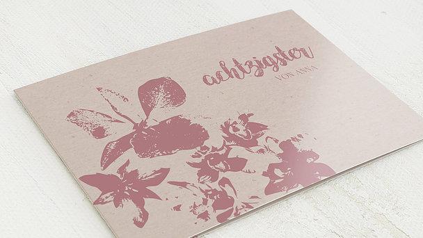 Geburtstagseinladungen - Blumenpastell 80