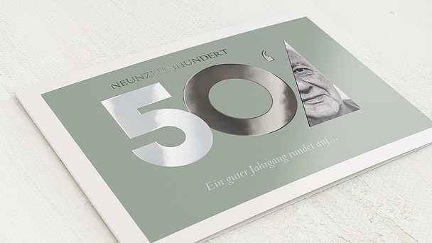 Geburtstagseinladungen - Aufgerundet 70
