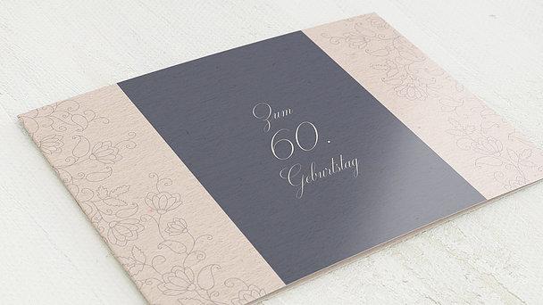 Geburtstagseinladungen - Umrankt 60