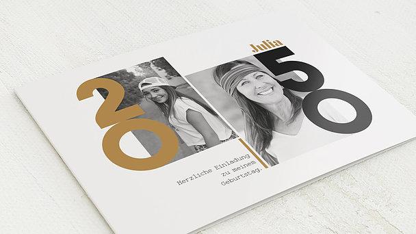Geburtstagseinladungen - Mein Jahr 50