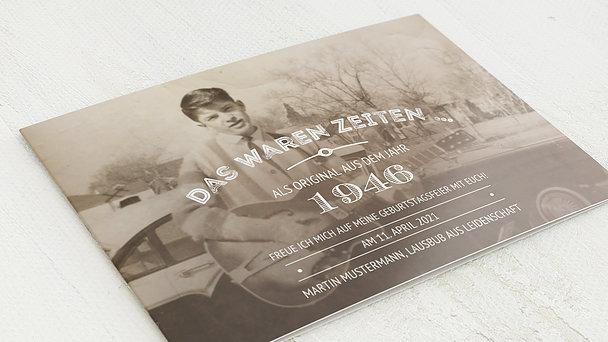 Geburtstagseinladungen - Alte Zeiten 75