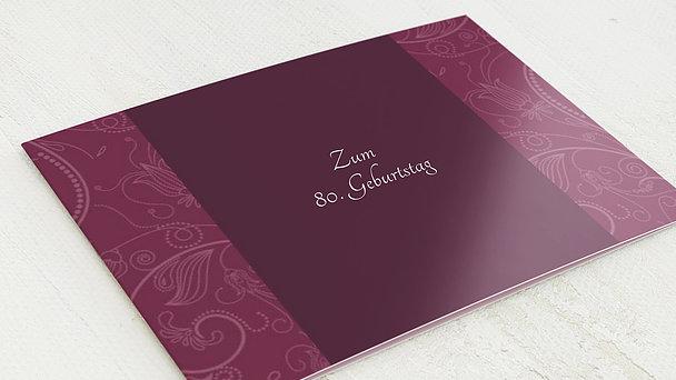 Geburtstagseinladungen - Card de Luxe 80