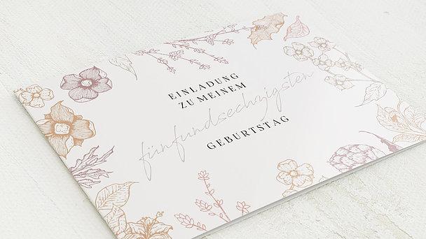 Geburtstagseinladungen - Floralis 65