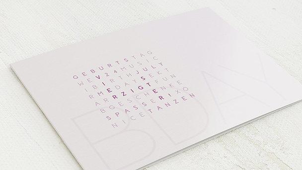 Geburtstagseinladungen - Buchstabenrätsel 40