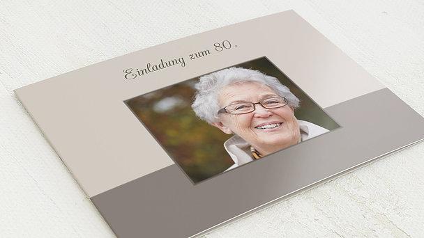 Geburtstagseinladungen - Lebensfreude 80