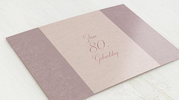 Geburtstagseinladungen - Umrankt 80