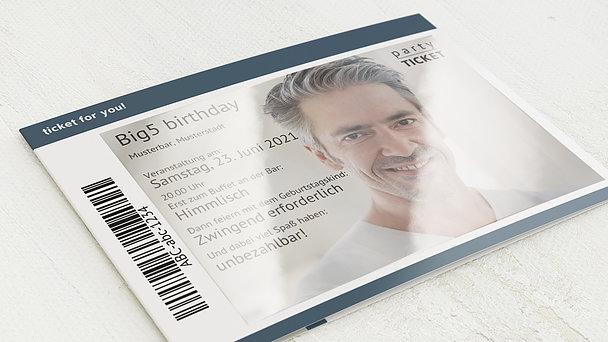 Geburtstagseinladungen - Party Ticket 50